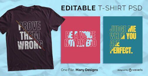 Füllen Sie Text Skalierbares T-Shirt PSD