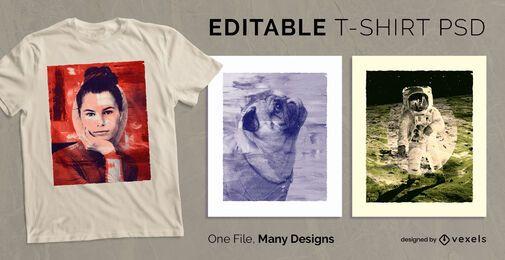 Malstil Skalierbares T-Shirt PSD