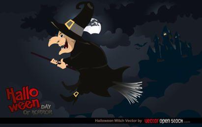 Ilustración de bruja de Halloween