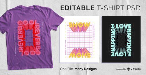 Diseño de camiseta de texto de marco rectangular PSD