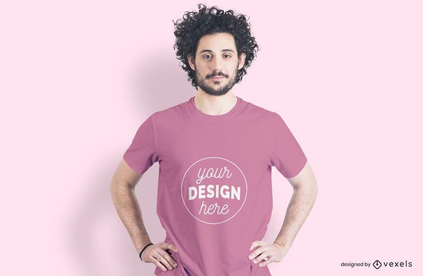 Model hands on hip t-shirt mockup