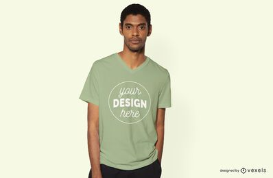 Model male t-shirt mockup design