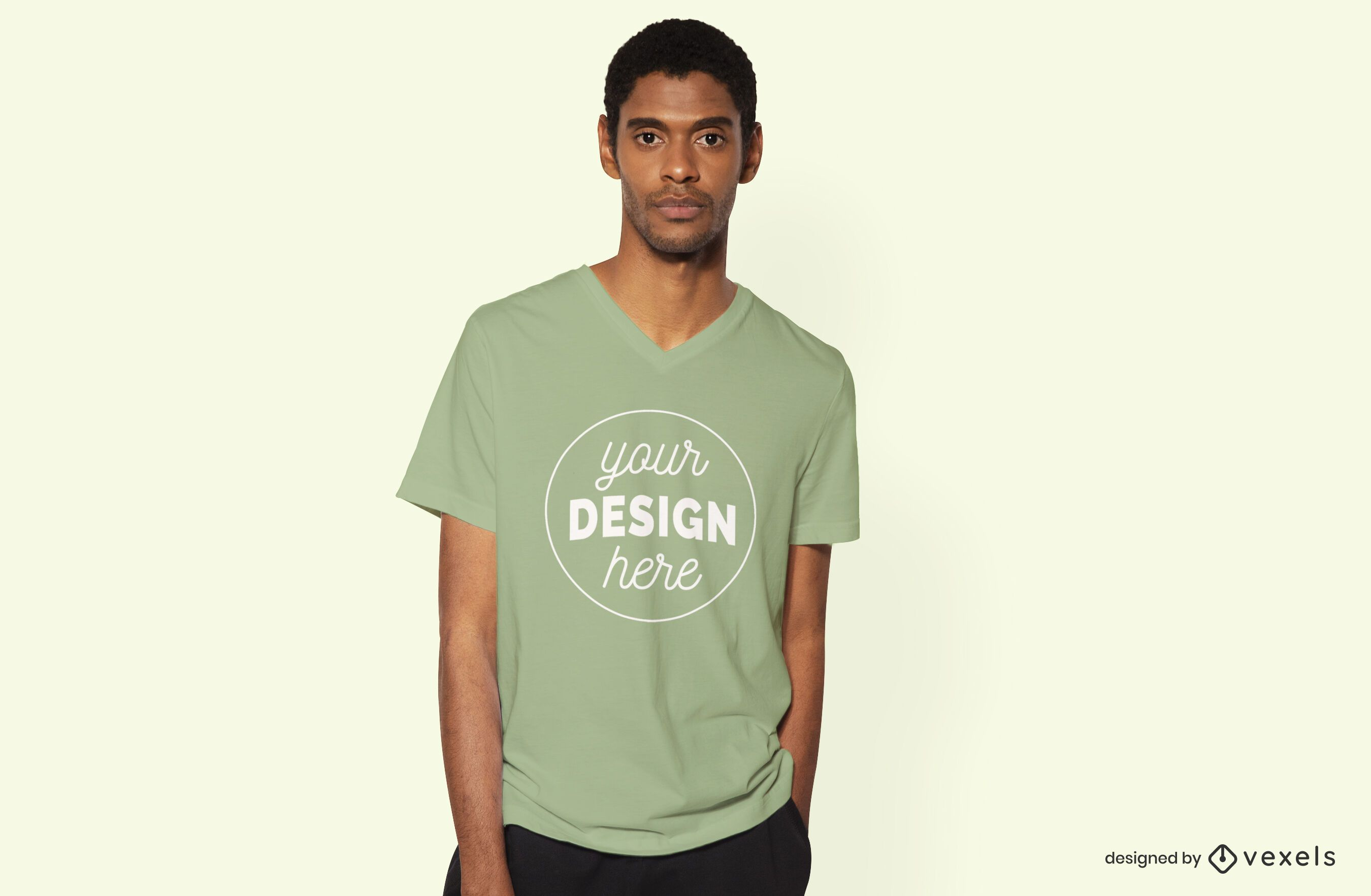 Model male t-shirt mockup design