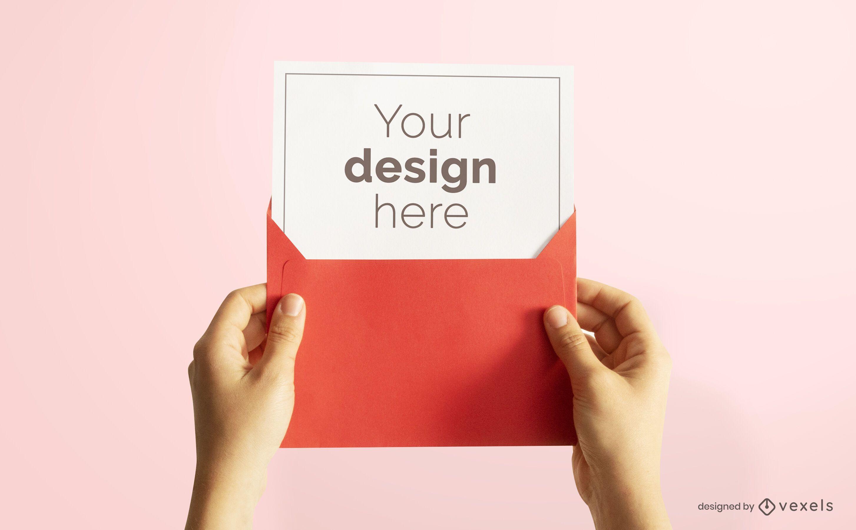 Diseño de maqueta de tarjeta de felicitación