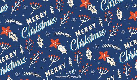 Desenho de padrão de feliz natal