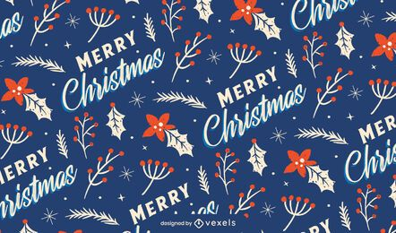 Merry christmas pattern design