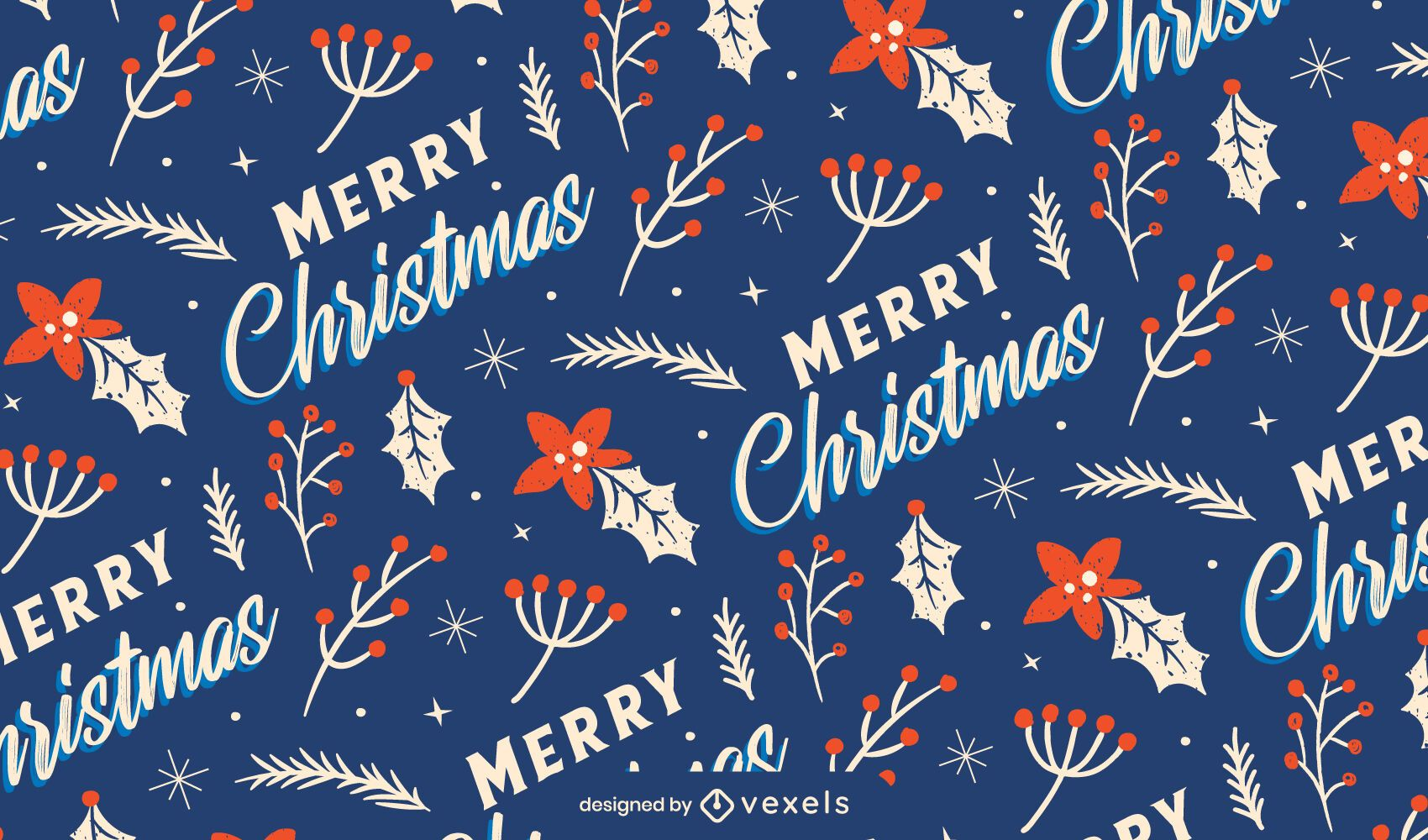 Merry christmas pattern design