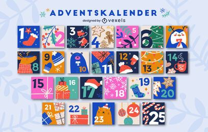 Paquete navideño del calendario de Adviento alemán
