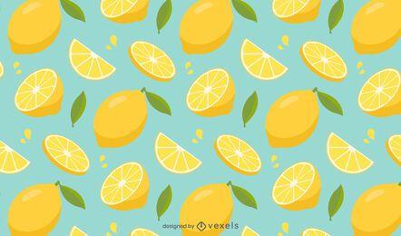 Diseño de patrón de rodajas de limón