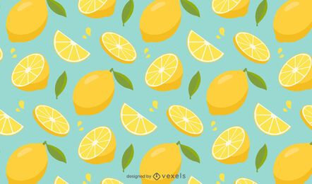 Lemon sliced pattern design
