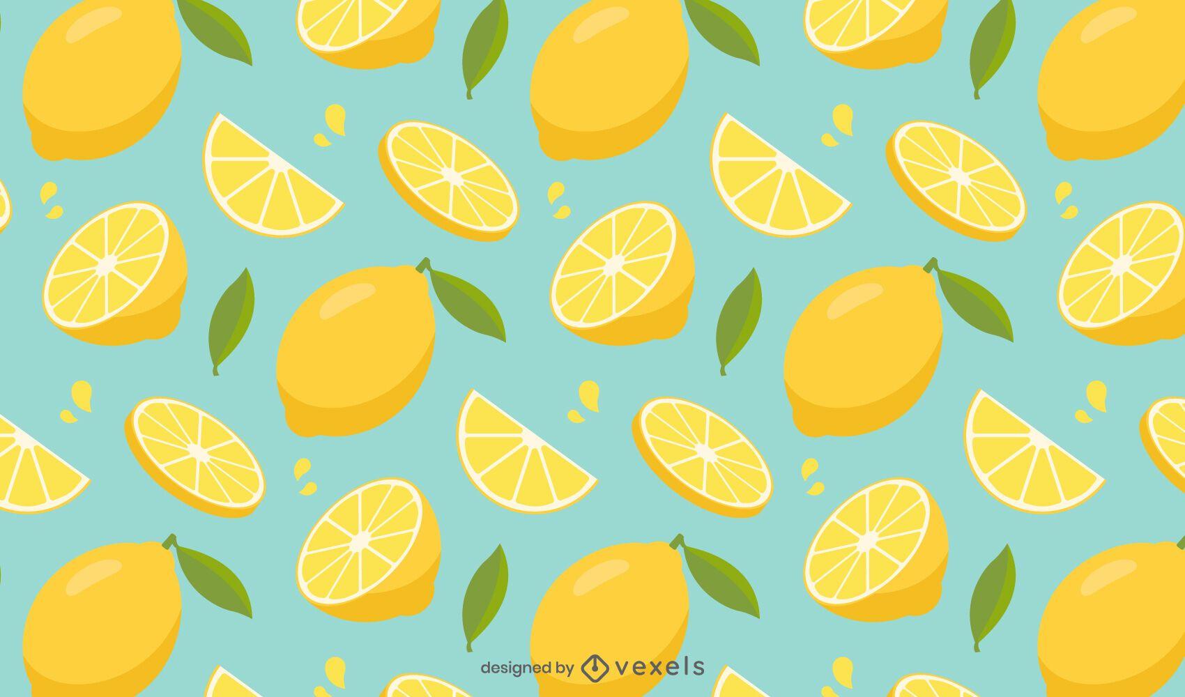Lemon sliced pattern design