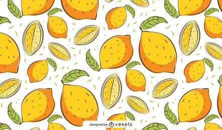 Diseño de patrón de frutas de limones