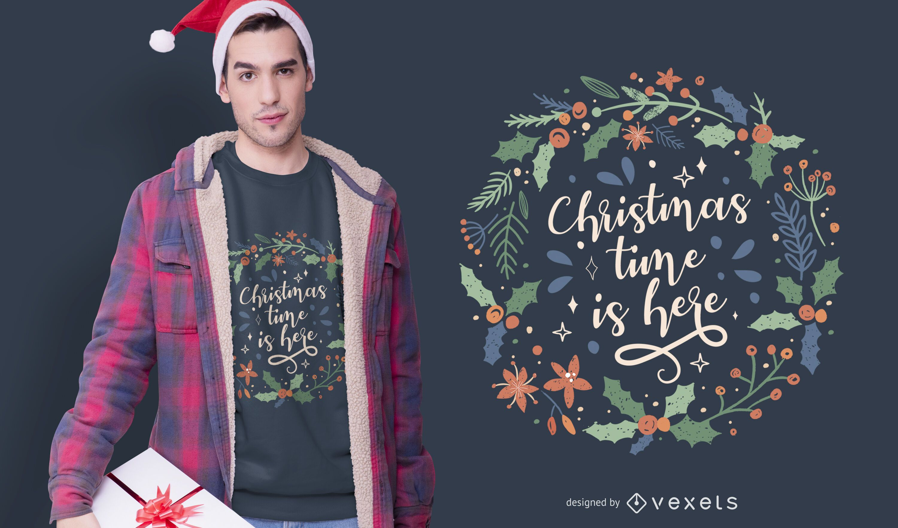 Christmas time is here t-shirt design