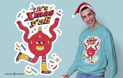 Es navidad todos ustedes diseño de camiseta