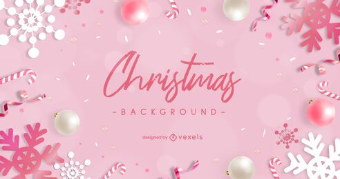Pink christmas background design