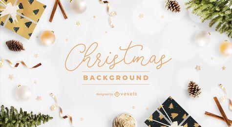 Diseño de fondo festivo de Navidad