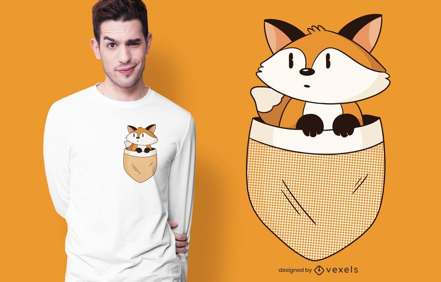 Pocket fox t-shirt design