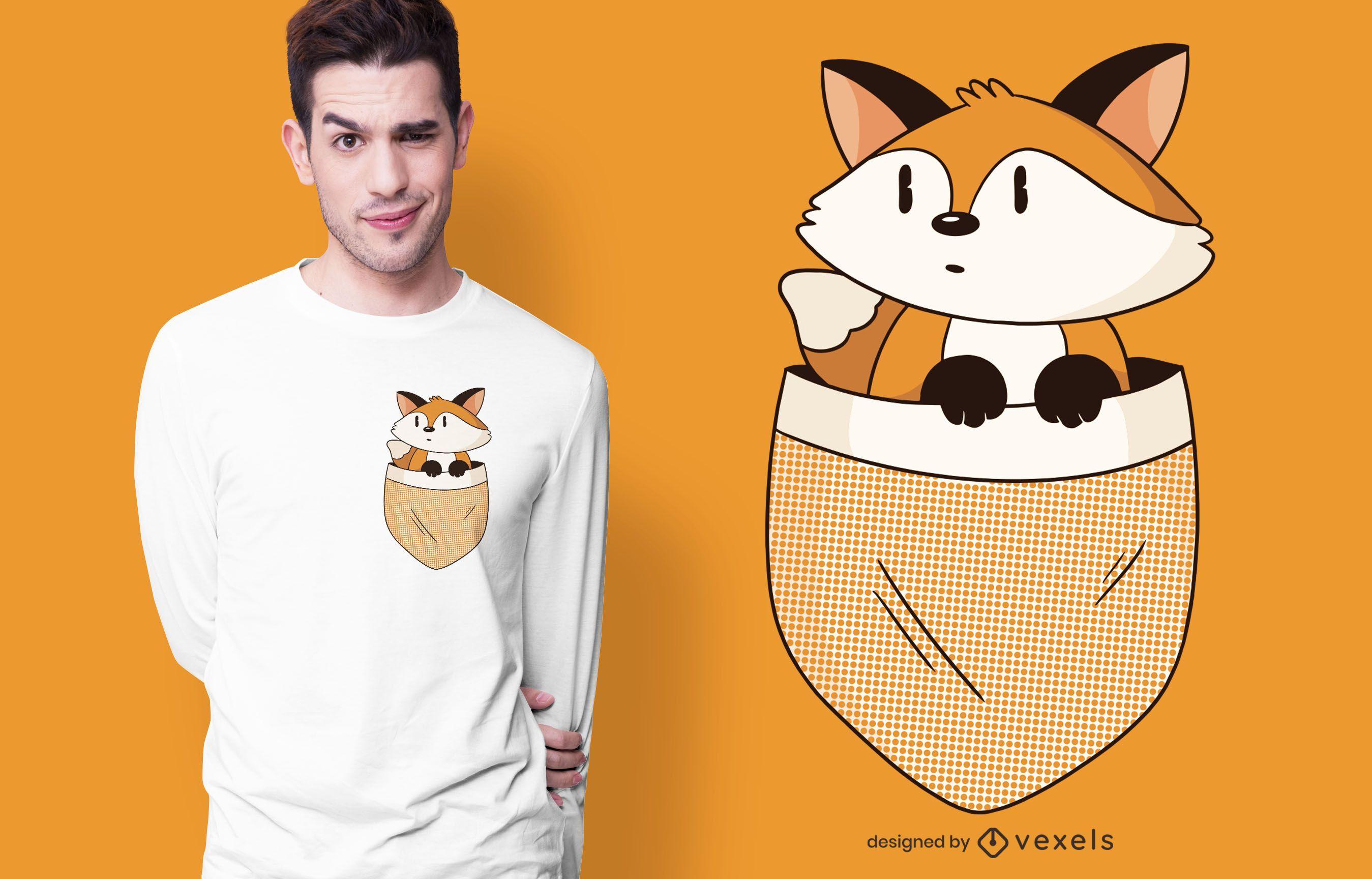Diseño de camiseta Pocket Fox