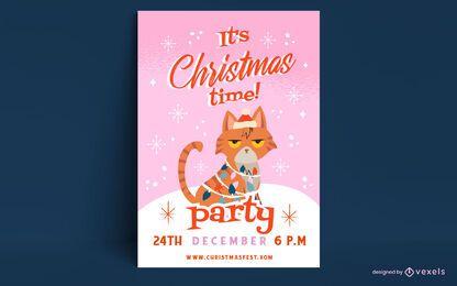 Plantilla de cartel de Navidad