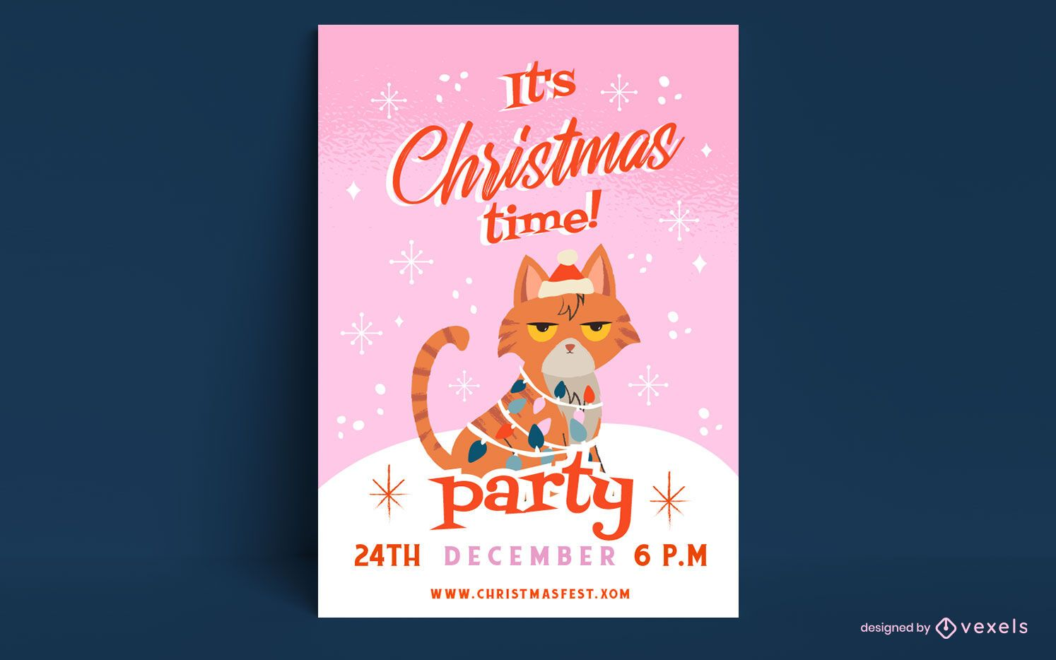 Christmas time poster template