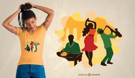Diseño de camiseta de cultura negra.