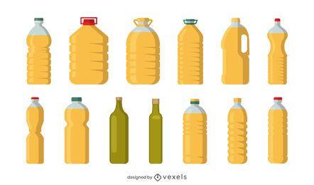 Conjunto de recipientes de óleo de cozinha