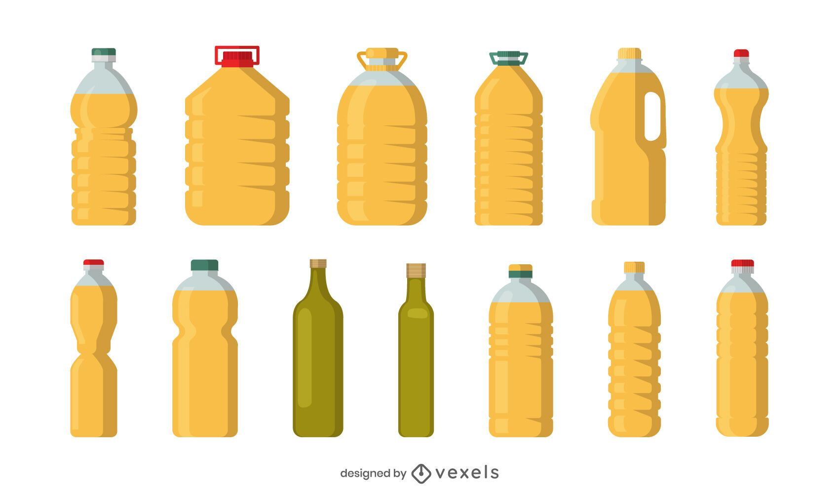 Cooking oil containers set