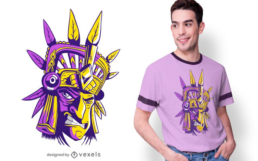 Aztec Warrior T-shirt Design