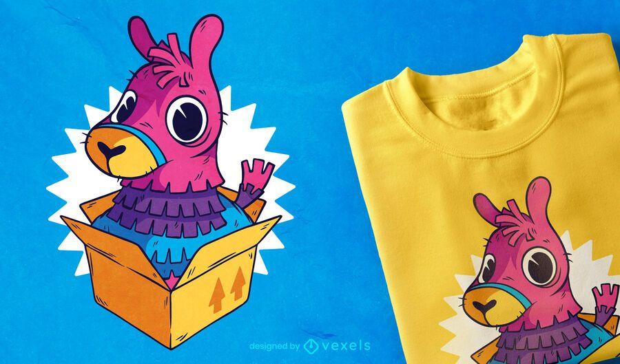 Piñata Llama Box T-shirt Design