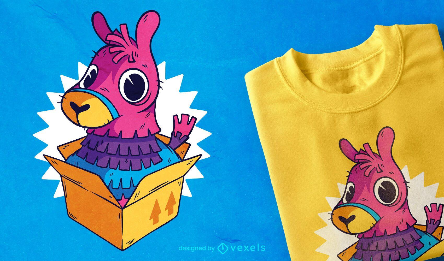 Diseño de camiseta Piñata Llama Box