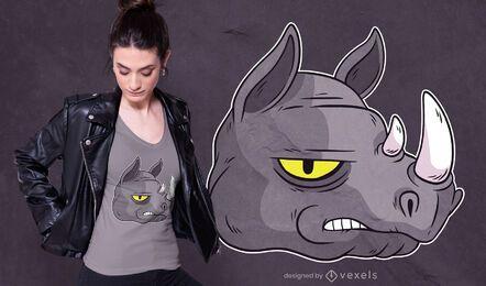 Diseño de camiseta Bad Black Rhino