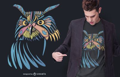 Colorful Mystic Owl T-shirt Design