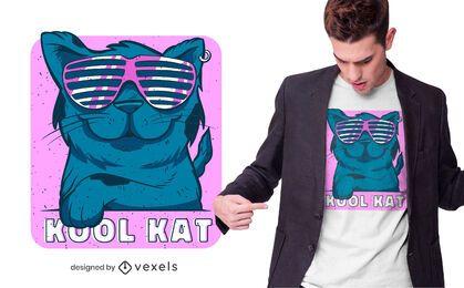 Diseño de camiseta Kool Kat