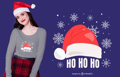 Ho Ho Santa Hat T-shirt Design