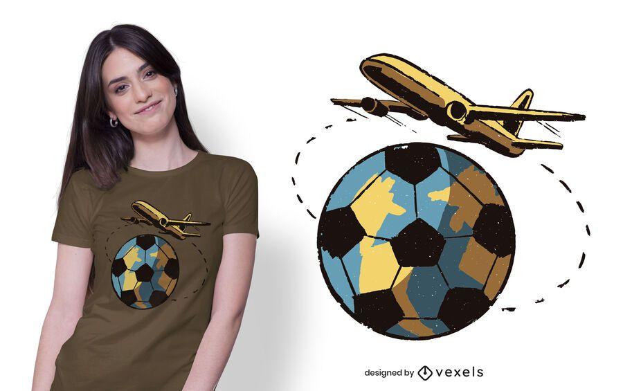 Travel Football T-shirt Design