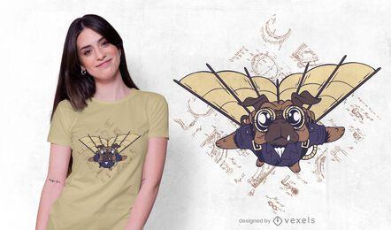 Design de camisetas para cães Pug Steampunk