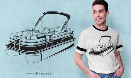 Pontoon Boat T-shirt Design