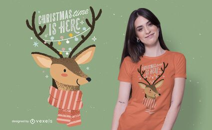 Reindeer christmas t-shirt design