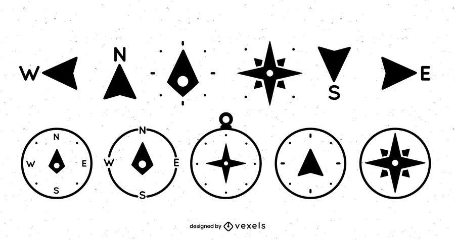 Compass icon set design