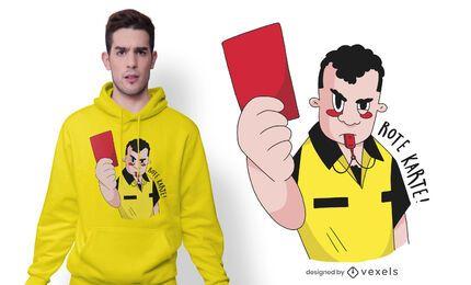 Design de camiseta alemã com cartão vermelho