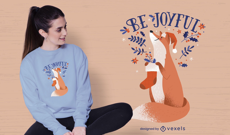 Sea alegre diseño de camiseta navideña