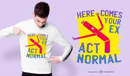 Agir com o design normal da camiseta