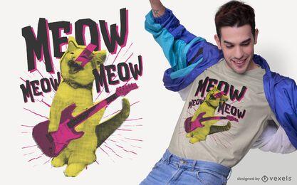 Metal cat t-shirt design