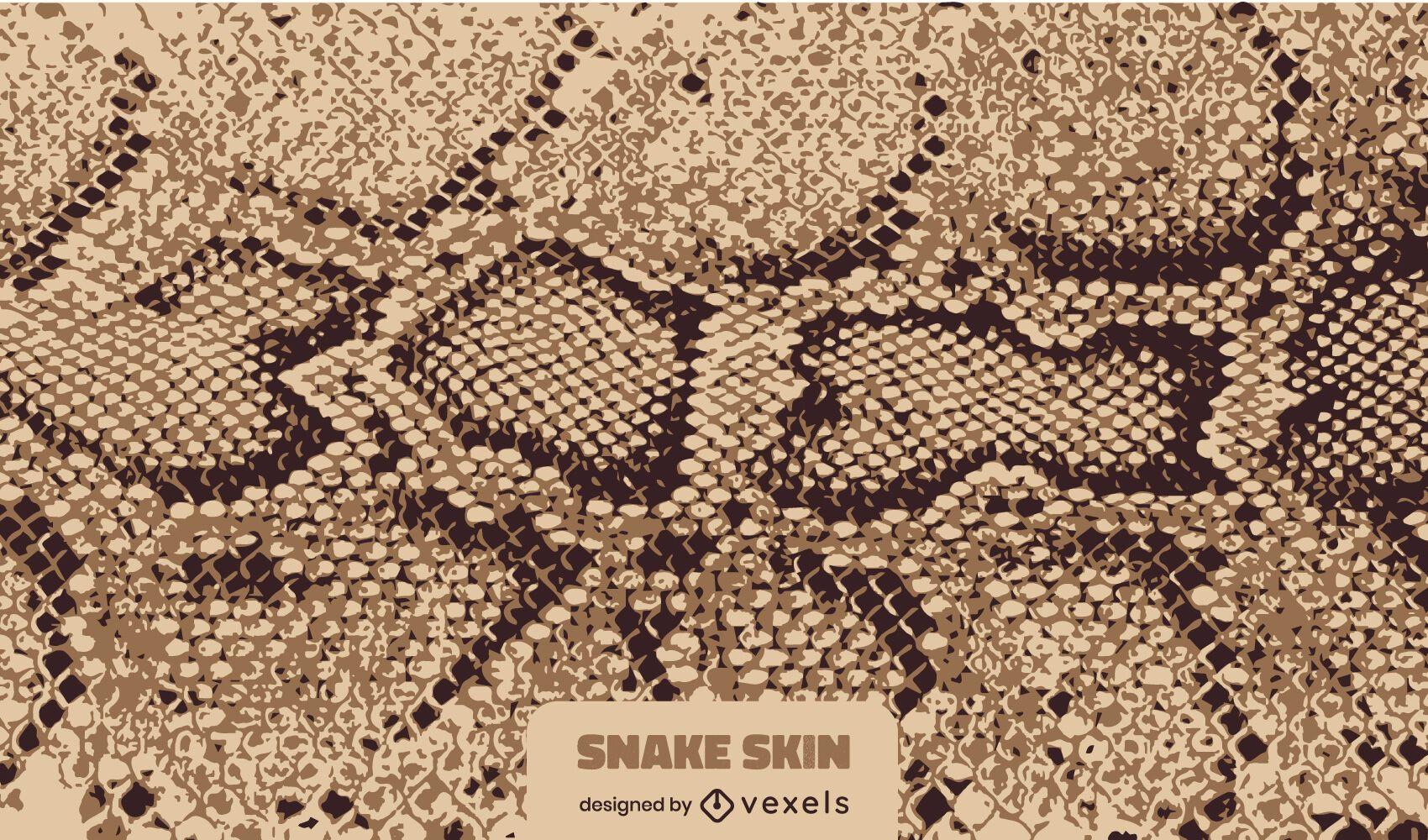 Diseño de textura de piel de serpiente de arena