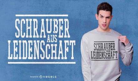 Destornilladores diseño de camiseta de cita alemana.