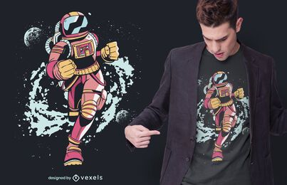 Design de camisetas do Spaceman Runner