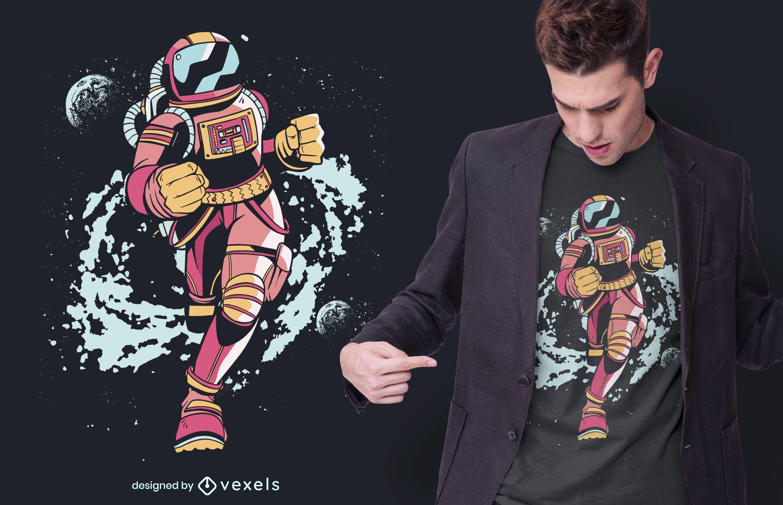 Spaceman Runner T-shirt Design