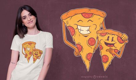Design de t-shirt da família Pizza