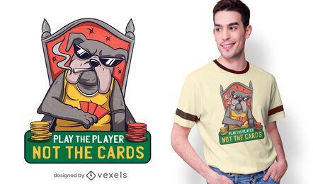 Design de camisetas com citações de Poker Bulldog