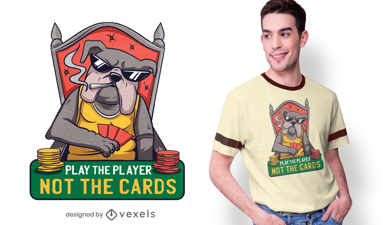 Poker Bulldog Quote T-shirt Design